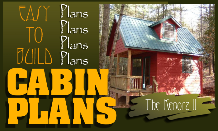 Easy to build cabin plans for Small easy to build cabin plans