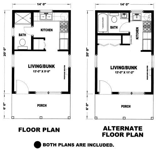 Gander 280 Sq Ft Cabin Plan