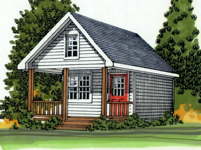 Mackenzie cabin plan for 144 sq ft shed