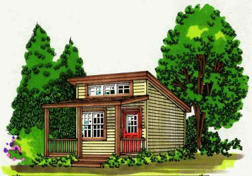 Mackenzie ii cabin plan for 144 sq ft shed