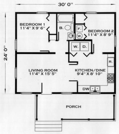 Peniac cabin plan for 720 sq ft apartment floor plan