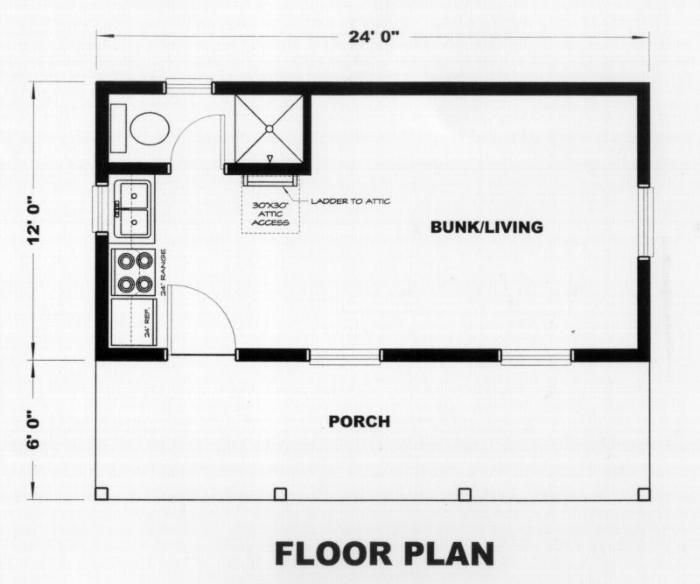 Regina 288 Sq Ft Cabin Plan