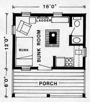 Saskatoon cabin plan for Hunting shack floor plans